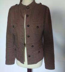 military jakna khaki,bronasti gumbi,S