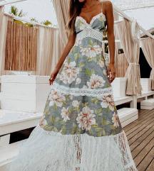 Maxi poletna obleka M