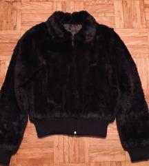 Rjava krznena topla  jakna M