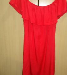 Rdeča bombažna oblekica