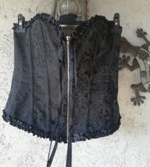 Nov črn gothic korzet L/XL