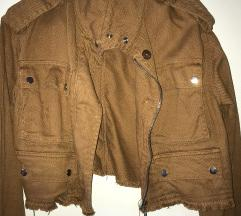 Nova rjava jeans jakna