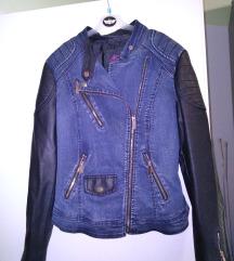 Jeans-usnje jakna