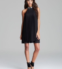 Plisirana črna obleka Guess, M