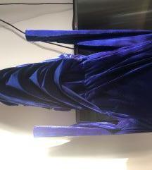 Royal modra večerna obleka