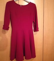 Rdeča UNI koktajl obleka - NOVO :)