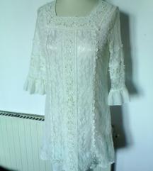 bela čipkasta obleka,italija,S