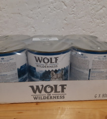 Hrana za pse konzerve 18x wolf of wildernes