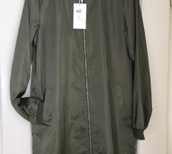 daljša zelena bomber jakna -NOVA!