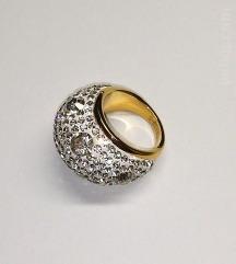 Zlat prstan-nerjaveče jeklo,vel. 9(19mm)