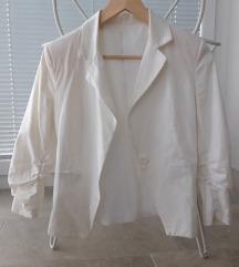 Bel blazer suknjič