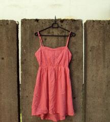 Bershka poletna roza obleka M