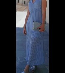 Modra poletna obleka UNI