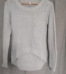 Siv pleten pulover