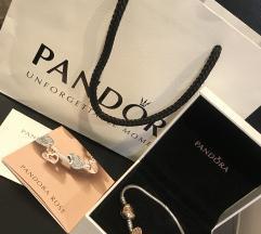 Pandora zapestnica z roza zaponko