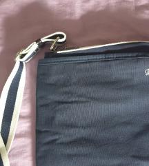 Temno modra platnena torbica