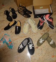 ženske najstniške čevlji, copati, sandali 37