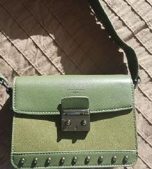 Temno zelena torbica