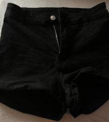 črne kratke hlače 38 - visok pas