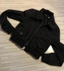 Crop prehodna crtasta jakna