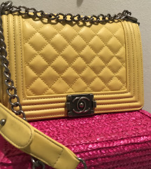 Chanel Boy - yellow bag