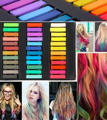 Barvne krede za lase