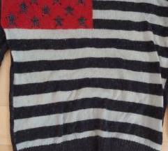 New Yorker American flag angora pulover UNI