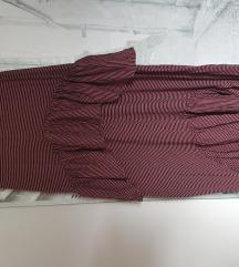 Zara high low obleka z volančki