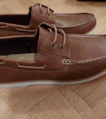 PRIMARK moški usnjeni čevlji v rjavi barvi