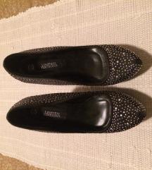 Črni čevlji z bleščicami NIKOLI NOŠENI