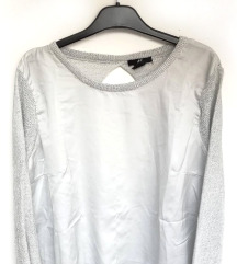 ZNIŽ.Open back silver pulover