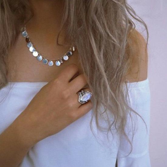 Srebrn prstan z opalom
