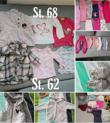 Oblačila za deklico 50-68
