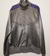 Adidas jakna srebrna svetleča