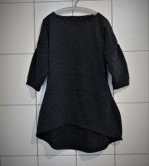 high low črna tunika - pulover