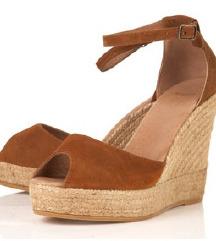 Topshop usnjeni sandali wedge st 36, MPC 65€