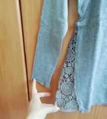 Zara TRF pulover s čipko
