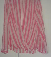 Nošena roza-bela bluzic