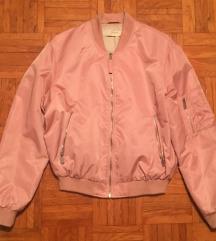 Zara roza bomber jakna št. S/36