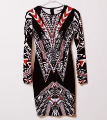 Čudiovita aztec BISOU BISOU elegantna obleka