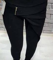 hlače  črne in svetlo modre