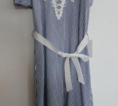 Poletna oblekica - mornarski vzorec - 2 kom