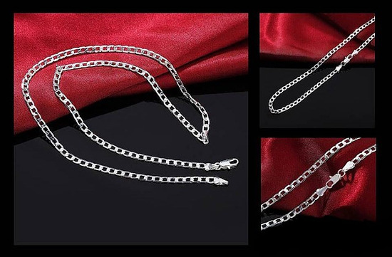 Moška ali ženska srebrna verižica 5mm