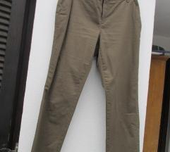 Olivno zelene elegantne hlače Yessica