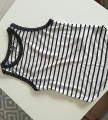 Nova črno bela črtasta majica