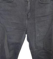Črne hlače z visokim pasom Zara