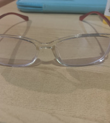 Dioptrijska očala prozorno-rdeča