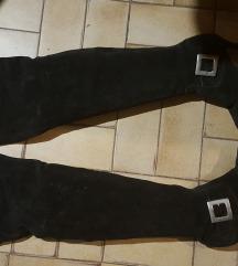 Black Nabuk Leder High Boots
