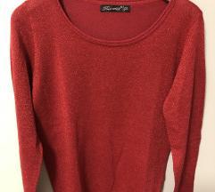 Pulover rdeč svetleč