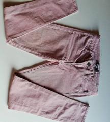 Dovge žametne roza hlače